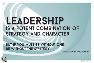 Good strategy makes good leaders