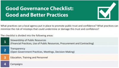 Good Governance Checklist: Good and Better Practices